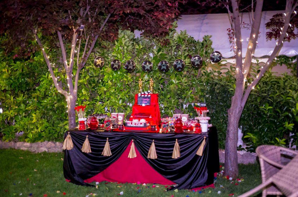 candy bar mesa dulce boda de cine