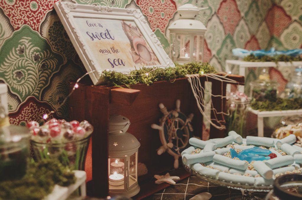 mesa dulce rústica candy bar rústico mar marino