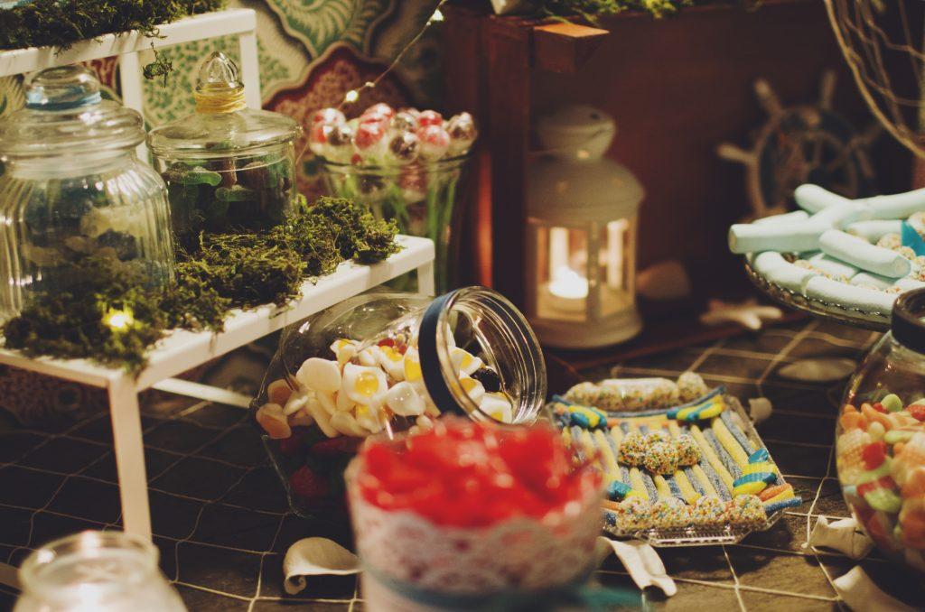 mesa dulce rústica candy bar rústico