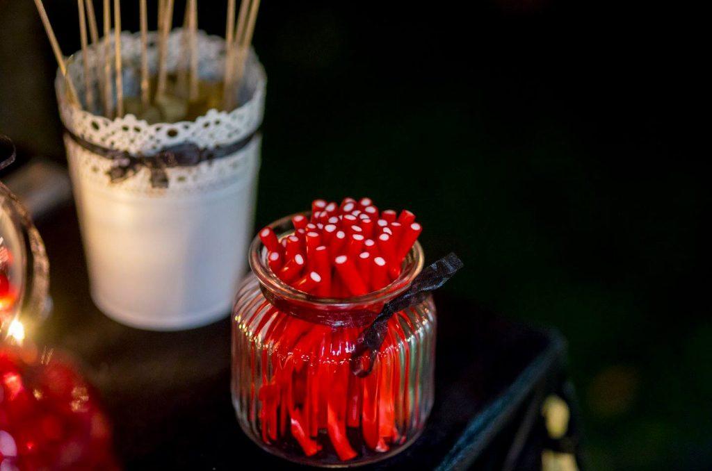 boda de cine mesa dulce candy bar