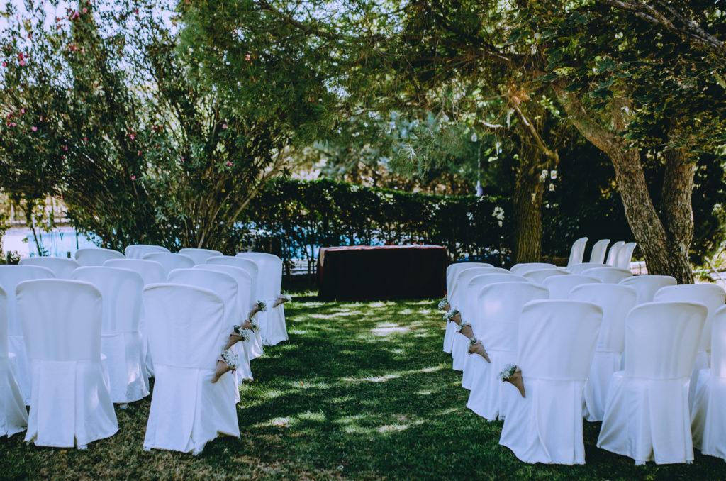 ceremonia jardín exterior decoración sillas