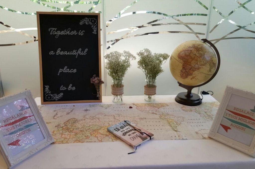 mesa de firmas viajera globo terráqueo mapamundi