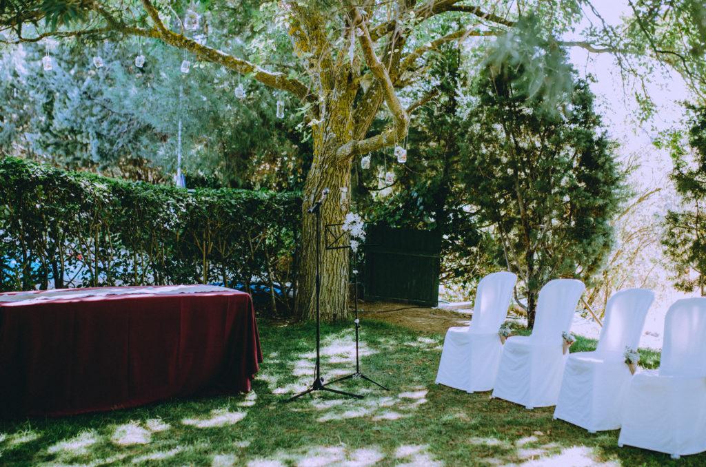 ceremonia jardín exterior