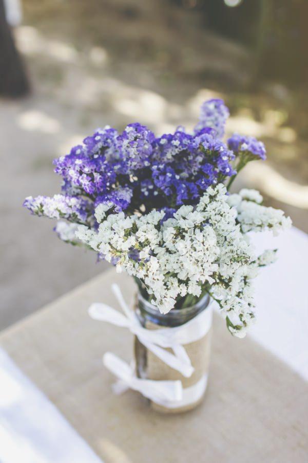 camino de mesa arpillera siemprevivas morado blanco
