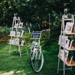 bicicleta vintage decoración escalera fotos