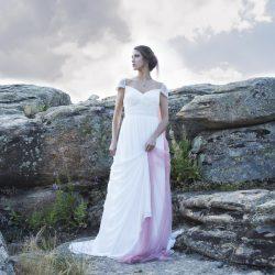 novia rústica campo