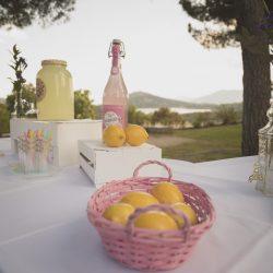 mesa limonada vintage retro rosa