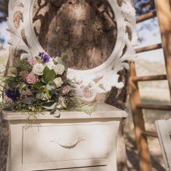 photocall cajonera marco escalera flores vintage