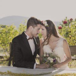 boda rústica campo banco flores