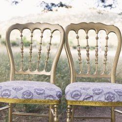 sillas ceremonia vintage dorado