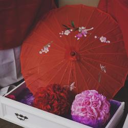 decoración japonesa parasol