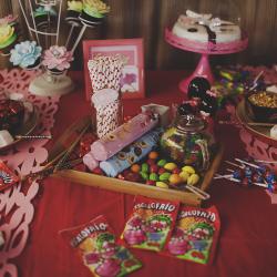 mesa dulce candy bar colorista inspiración asiática