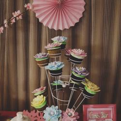 candy bar mesa dulce inspiración japonesa rosa fucsia